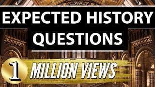 Most Important Indian History Questions -   SSC CGL + Railways + CHSL + UPSC + CLAT + CDS + NDA