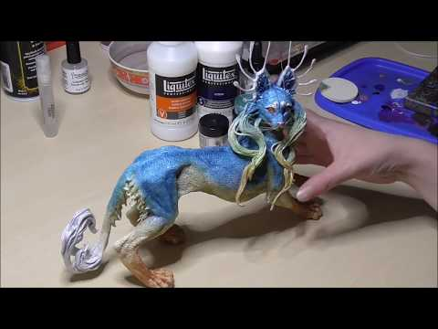 Painting a sculpture: Using pastels and mica powder to build up ...