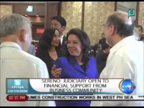 [NewsLife] Sereno: Judiciary open to financial support from business community