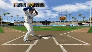 MLB 2K14 Colorado Rockies Vs Los Angeles Dodgers Adrian Gonzalez / Hyun-jin Ryu