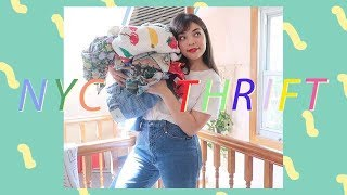 my top favorite nyc vintage & thrift stores 🌈  + a haul!