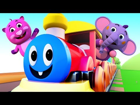 ABC TRAIN SONG | Learn ABC With 3D Nursery Rhymes | All Babies Channel