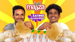 MAAZA AND POORI EATING CHALLENGE | MAAZA JUICE CHALLENGE | FOOD CHALLENGE