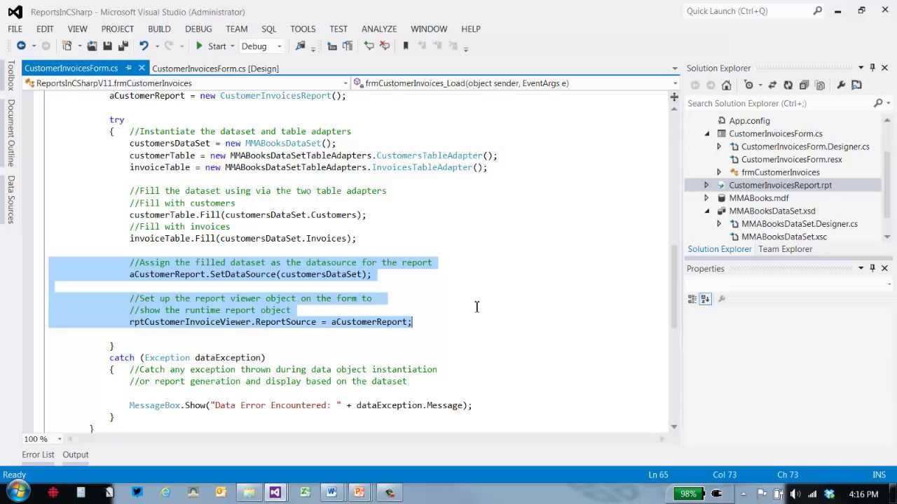writing crystal reports runtime code youtube - Sql Report Writing