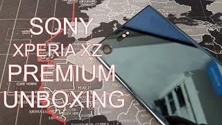 Sony Xperia XZ Premium Deep Sea Black unboxing | it's so beautiful!