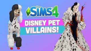 Disney Villains as PETS in the Sims 4 - CAS