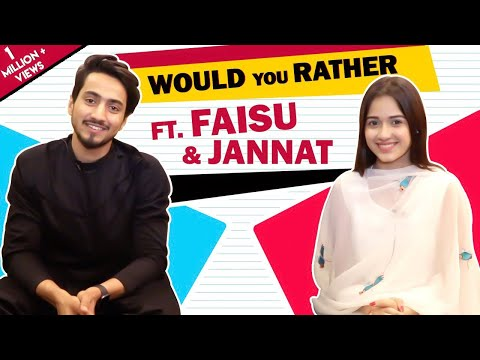 Jannat Zubair Rahmani And Faisal Shaikh Play Would You Rather With India Forums
