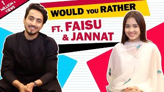 [2.67 MB] Jannat Zubair Rahmani And Faisal Shaikh Play Would You Rather With India Forums