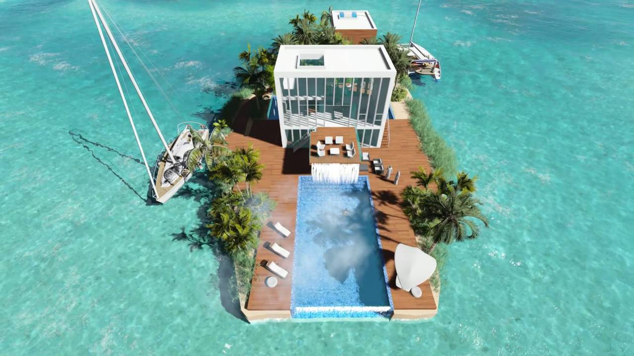 Aqua Palms Dubai Private Island Luxury Design Architects