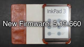 PocketBook InkPad 3 Firmware Update v.5.19.660