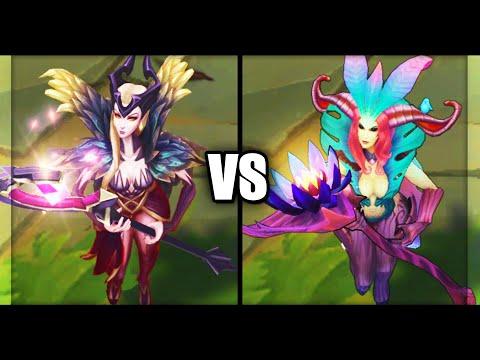 Coven LeBlanc vs Elderwood LeBlanc Epic Skins Comparison (League of Legends)