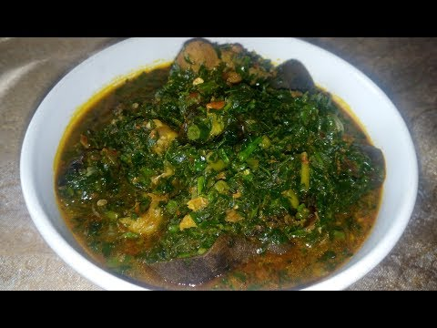How to Prepare Edikan ikong Soup (Vegetable Soup)
