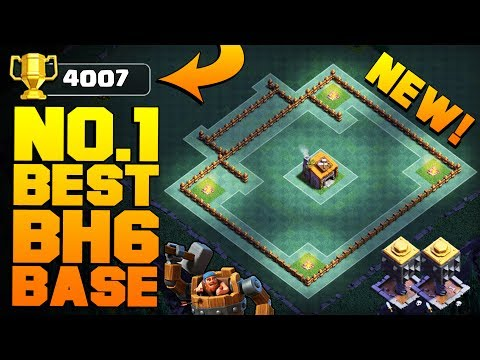 LITERALLY THE BEST Builder Hall 6 Base w/ PROOF!! | ANTI EVERYTHING CoC BH6 Base! | Clash of Clans