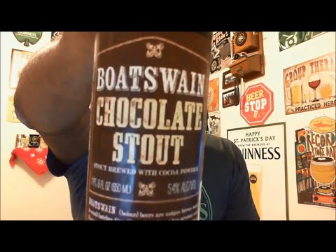 Video Beer Review #335 Drinking and Talking Boatswain Chocolate Stout Rhinelander Brewing 🍻