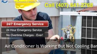 Air Conditioner Is Working But Not Cooling Barberville FL (407…