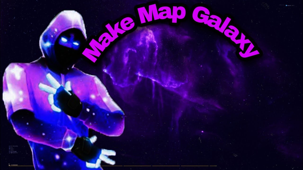 How To Get A Galaxy Background In Fortnite Creative Youtube
