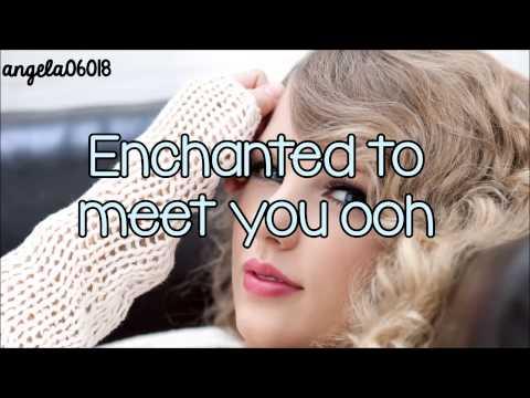 Taylor Swift - Enchanted (Lyrics On Screen)HD
