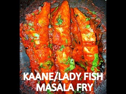 Kaane Or Lady Fish Masala Fry Recipe | Kundapura Mangalorean Style