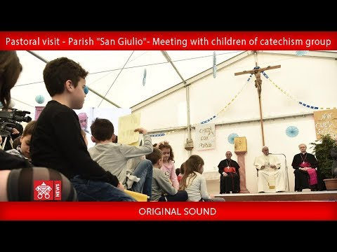 Pope Francis - Meeting with children of catechism group 2019-04-07