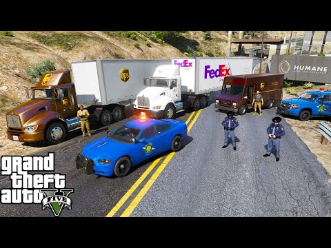 GTA 5 Mods - UPS & FedEx Team Up To Deliver The Pfizer COVID-19 Vaccine To San Andreas