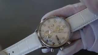 Women's White Hugo Boss Chronograph MOP Dial Watch 1502225