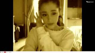 Twitcam Ariana Grande 17/12/2012