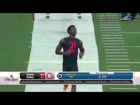 NFL Combine: WR Calvin Ridley 40 Yard Dash