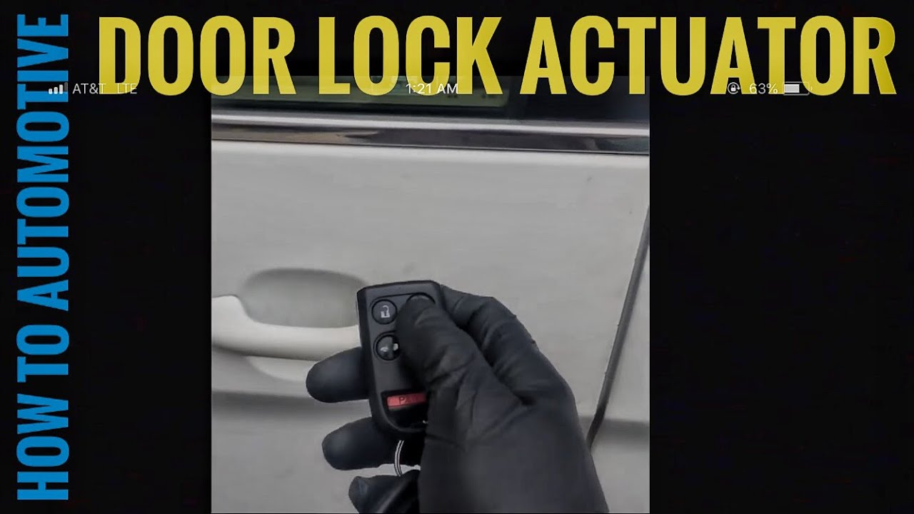 How To Replace The Door Lock Actuator On A 2006 Honda Odyssey Youtube