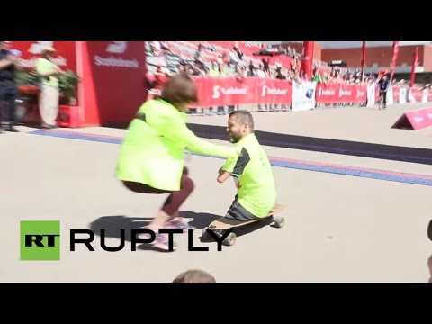 Canada: Man without arms and legs completes Calgary marathon