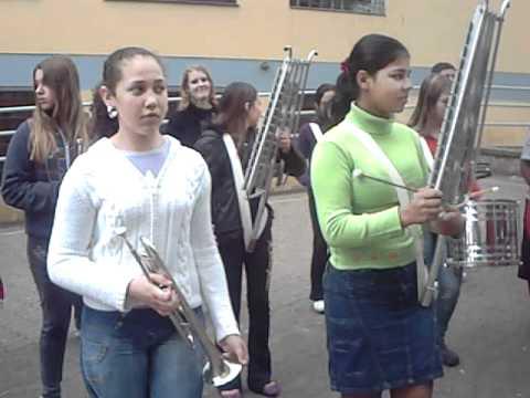 Banda da Escola Alberto Santos Dumont - Sapucaia do Sul - O Inicio part 2