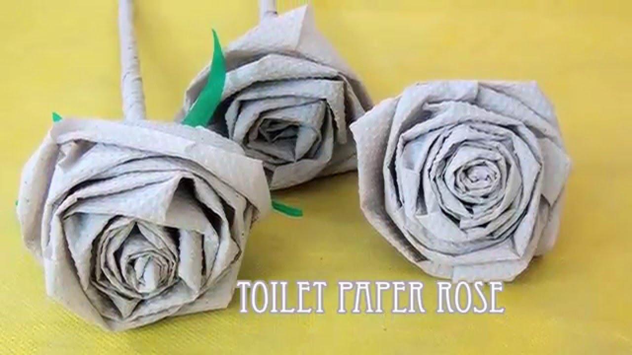 Toilet Paper Rose Diy Youtube