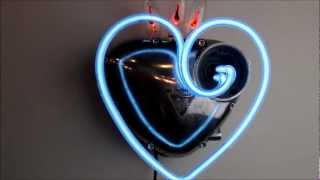 triumph mercury heart neon sculpture