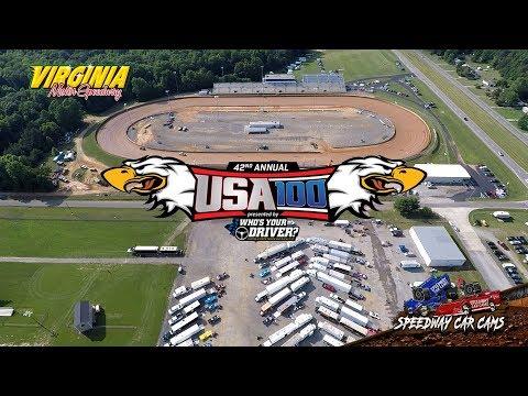 USA100 - #4sale Brandon Overton - Super Late Model - 6-16-18 Virginia Motor Speedway - In Car Camera