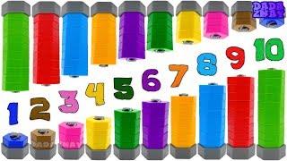 Учимся считать от 1 до 10| Учим цифры с малышами| Учим цифры от 1 до 10|Цифры и цвета для детей