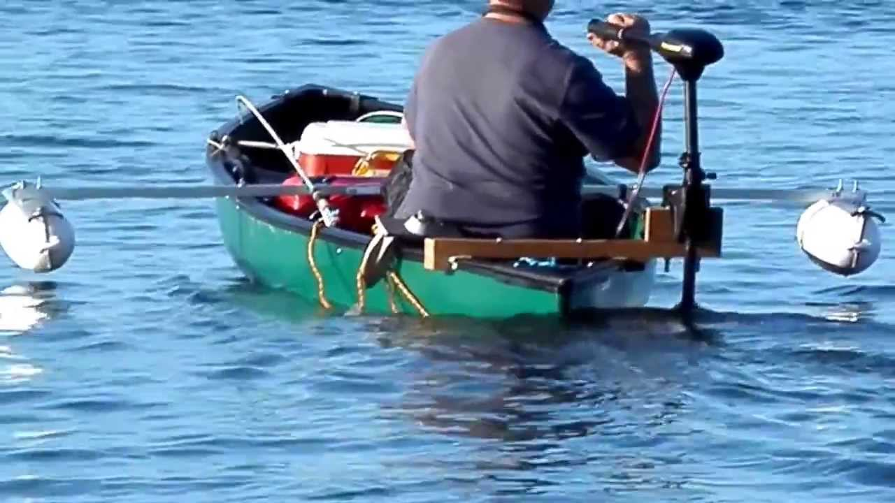 Teak Trolling Motor Mount And Canoe Outriggers Youtube