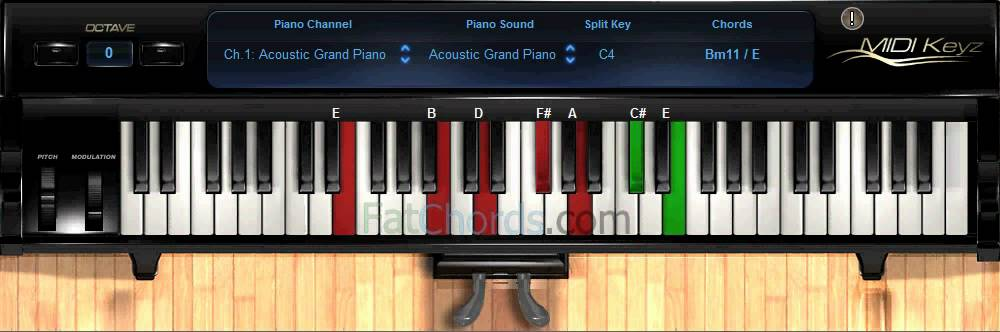 Piano neo soul piano chords : Fat Chords #6 - Piano Progression Voicings Phat Neo Soul Jazz ...