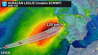 El Huracán LESLIE podría alcanzar la Península