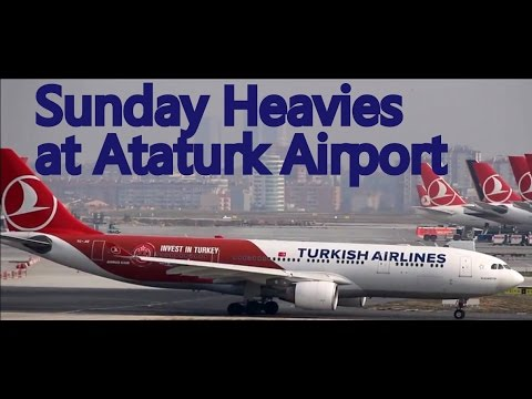 Plane Spotting - Sunday Heavies at Istanbul Ataturk Airport 31.01.2016
