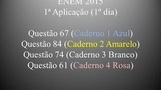 ENEM 2015 - Questão 67 (Caderno 1 Azul)