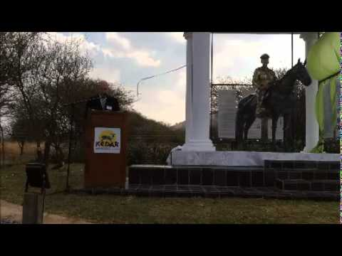 Unveiling speech for the Jan Smuts Memorial by his great grandson Philip Weyers
