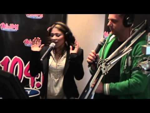 Karson & Kennedy - 2/11/11 - Shannon Allen (wife of Ray Allen of the Boston Celtics) Sings Karaoke