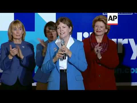 Female Senators Rally for Clinton in N.H.