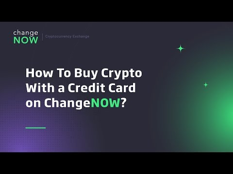 How To Buy Crypto With A Credit Card On ChangeNOW