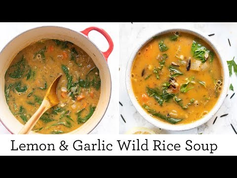 VEGAN WILD RICE SOUP ‣‣ The BEST Soup I've Made All Winter