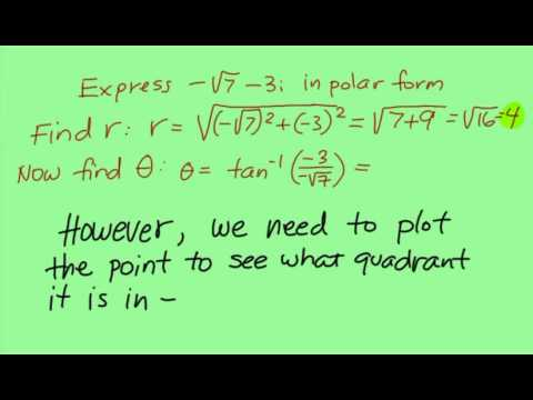 Converting a complex number into trig(polar) form (Using a ...