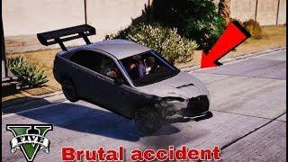 GTA V Brutal car accident part 1#  (Redux Graphic)