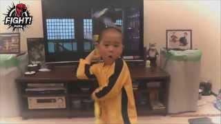 Китайский мальчик 5 лет копирует движения Брюса Ли - Bruce Lee