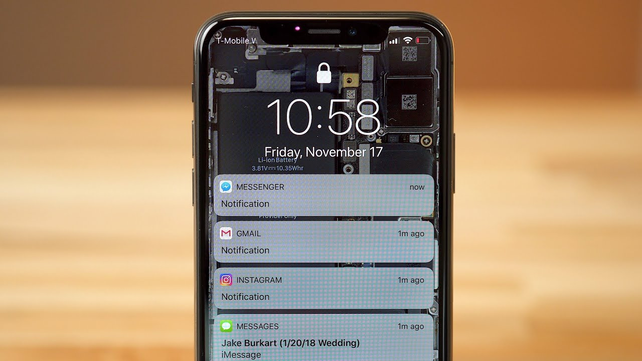 How to disable Hidden Lockscreen Notifications on iPhone X