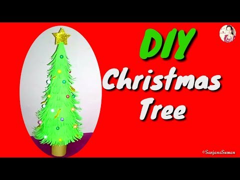 #DIY #Christmas Tree Paper Craft by #SanjanaSuman