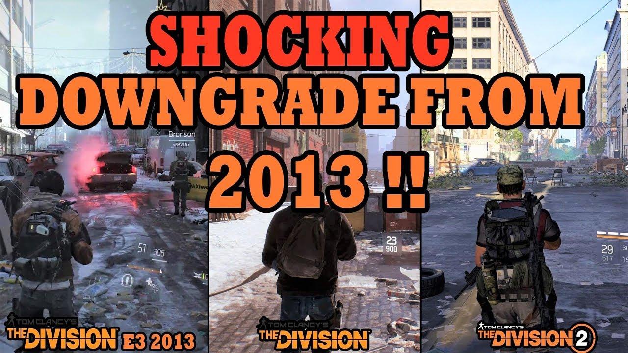 The Division (E3 2013) vs The Division vs The Division 2 Graphics  Comparison | Shocking Downgrade